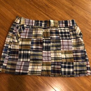J Crew Women's Madras Skirt